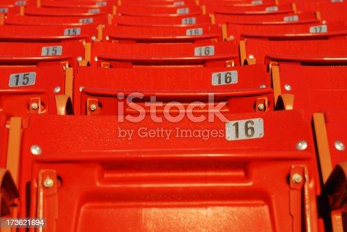 171581046istockphoto Red Stadium Seats 173621694