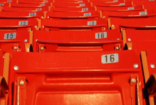 171581046 istock photo Red Stadium Seats 173621694