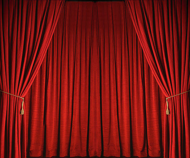 Red Stage Curtains From Theatre Stock Photo More Pictures Of Arts Culture And Entertainment