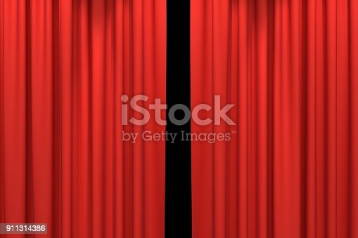 istock Red stage curtains 911314386