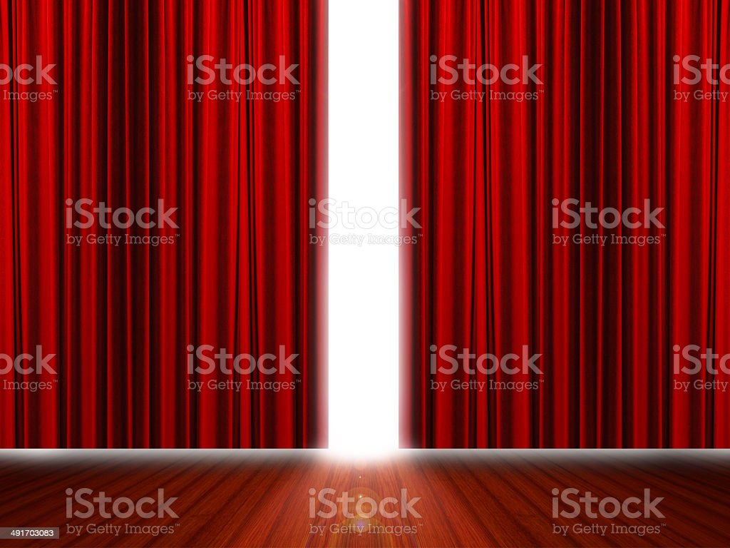 Red stage stock photo