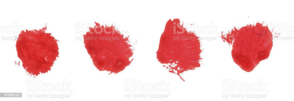 red stain royalty-free stock photo