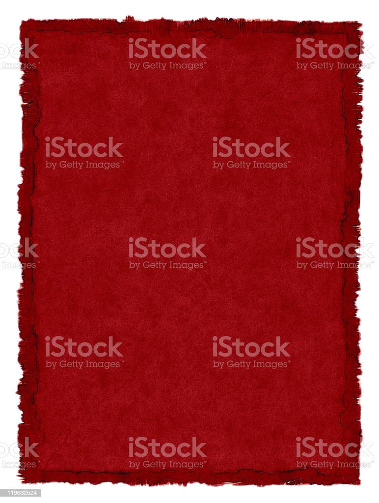 Red Stained Paper stock photo