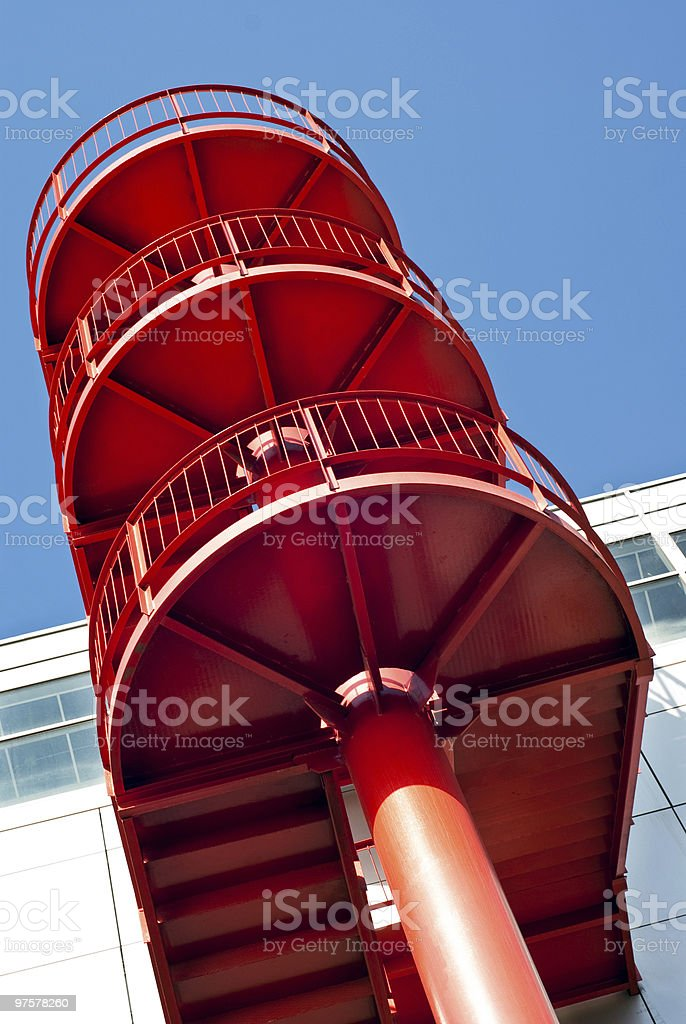 red stair royalty-free stock photo