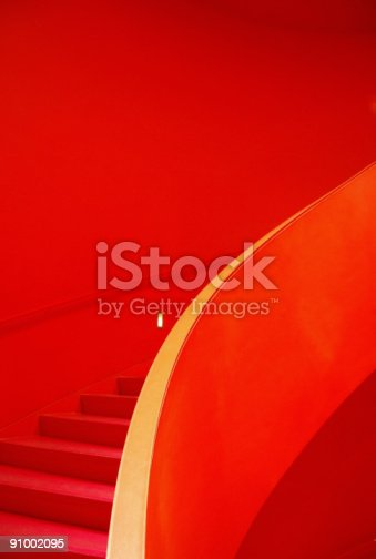 istock Red Staircase 91002095
