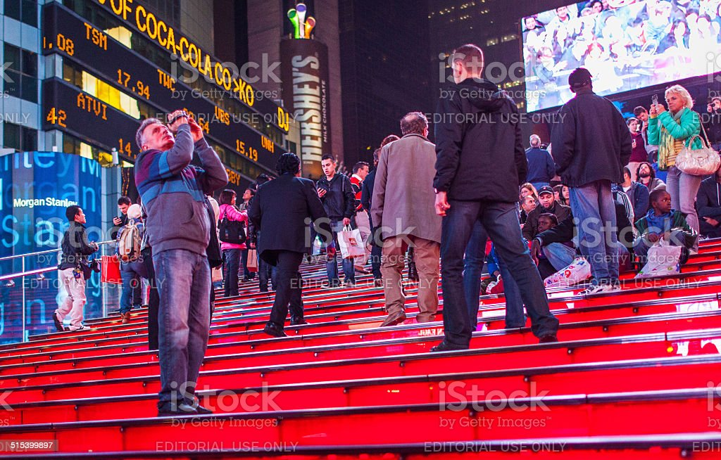 TKTS red stairs stock photo