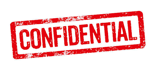 Red Stamp - Confidential Red Stamp - Confidential privacy stock pictures, royalty-free photos & images