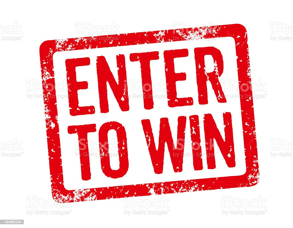 Red Stamp - Enter to win stock photo