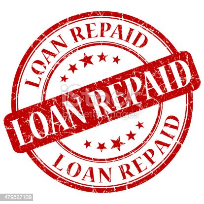istock LOAN REPAID red stamp 479567109