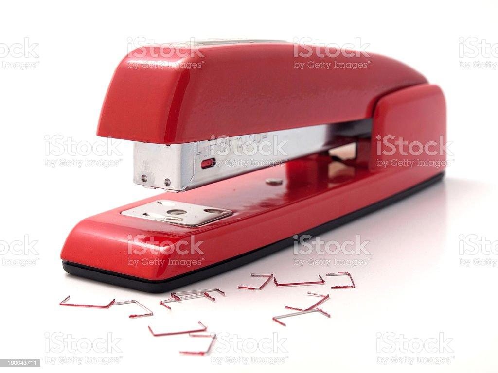 Red Stapler stock photo