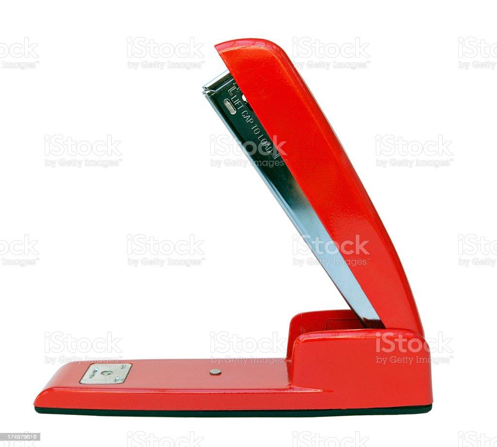 Vermelho Agrafador - fotografia de stock