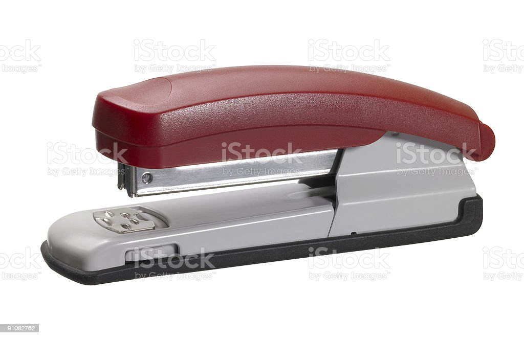 red stapler royalty-free stock photo