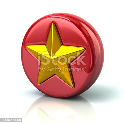 istock Red star button 1140293905