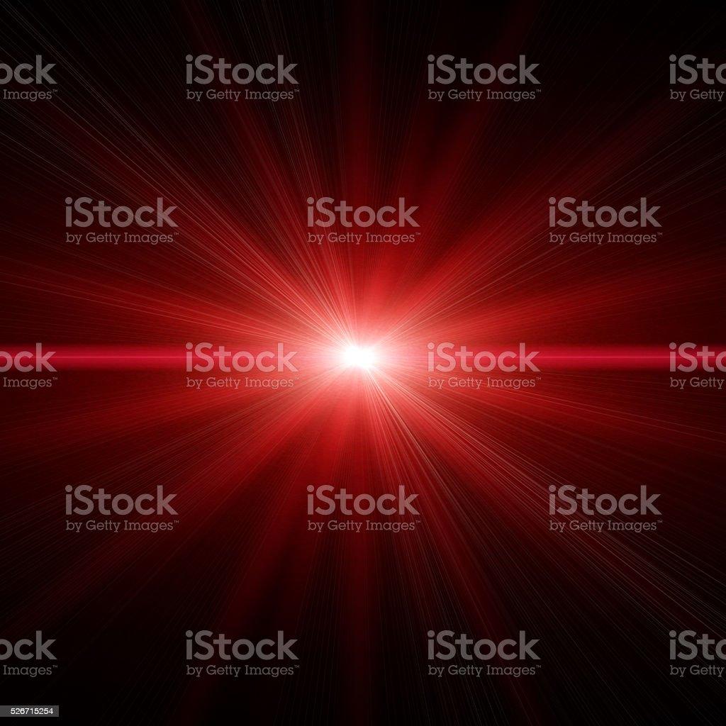 Estrella roja de luz - foto de stock