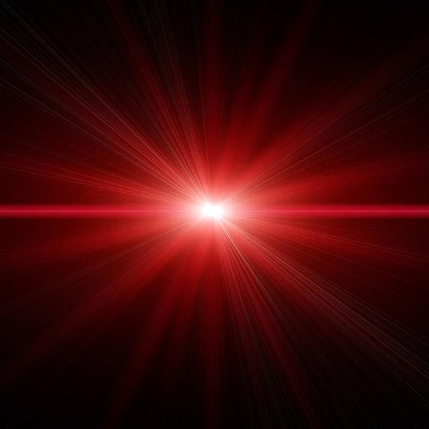 Stelle luce rossa - foto stock