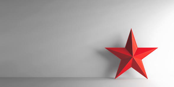 istock Red star 654327438
