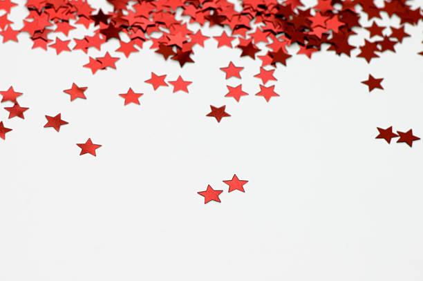 Red Star Raining stock photo