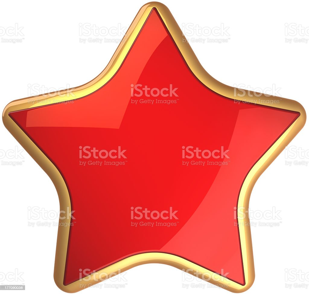 Red star shape beautiful success symbol icon concept royalty-free stock photo