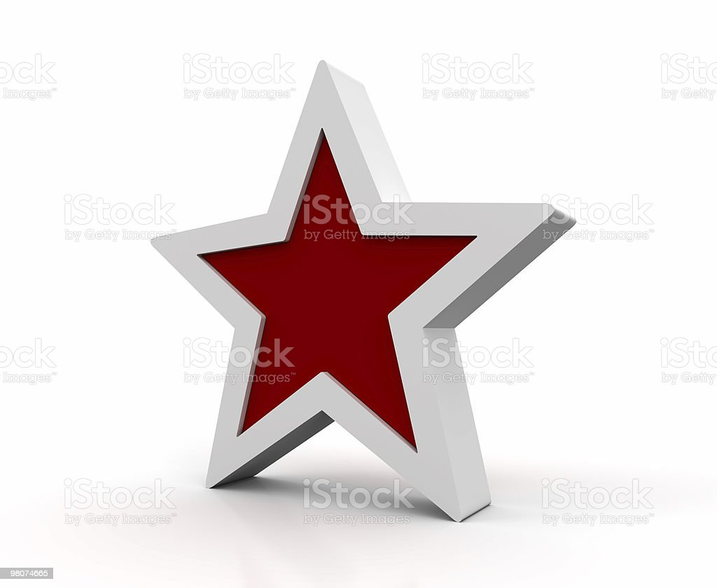 Red Star Symbol royalty-free stock photo