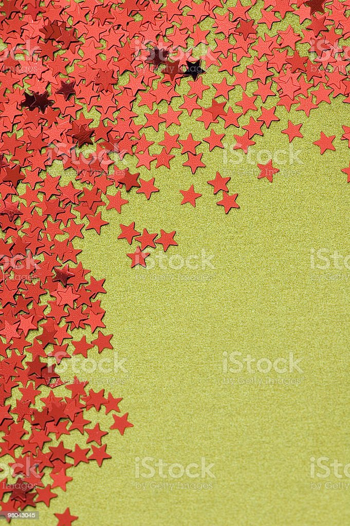 Red Stars Confetti royalty-free stock photo