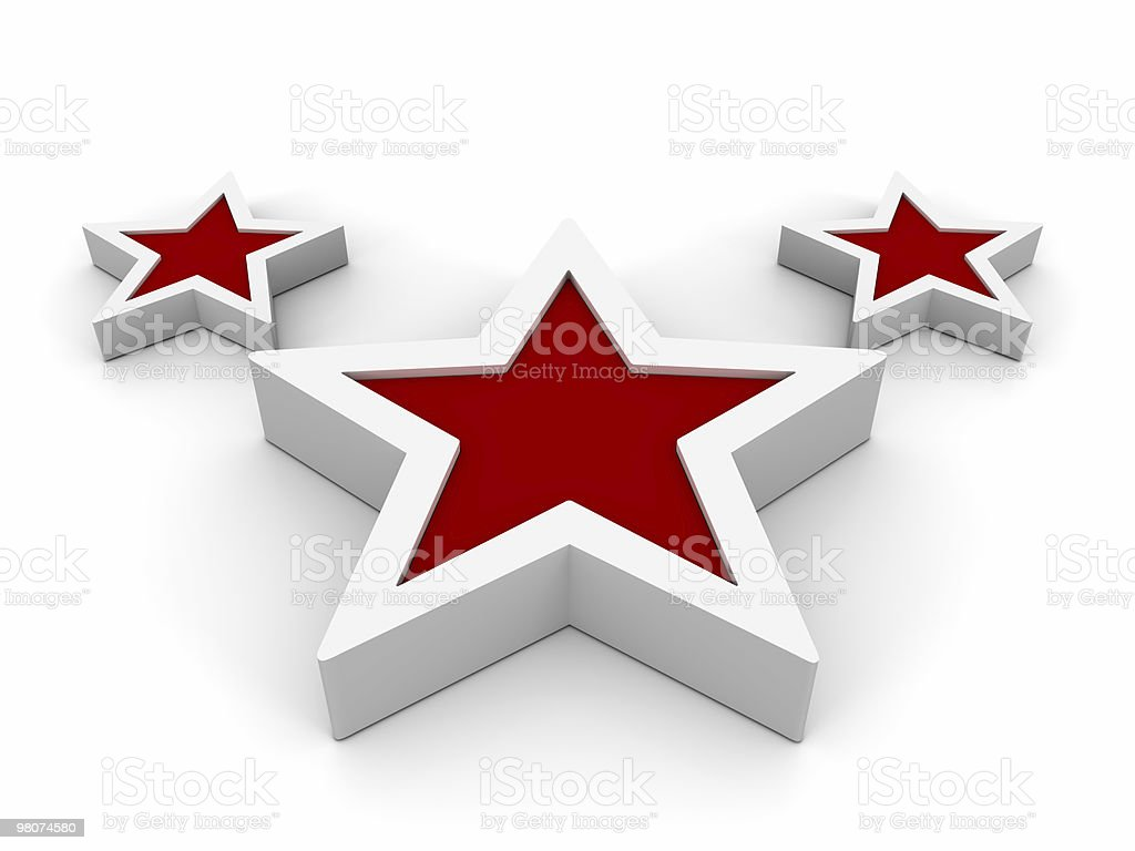Red Stars Symbol royalty-free stock photo