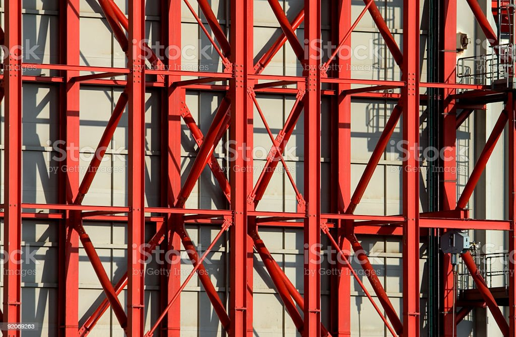 Red steel beams royalty-free stock photo