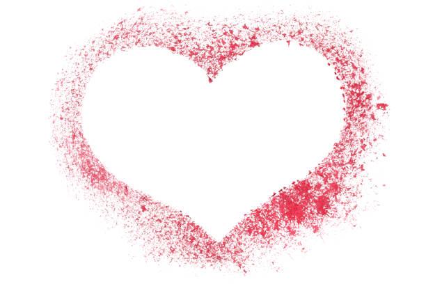 red stenciled heart - sprüche für die liebe stock-fotos und bilder