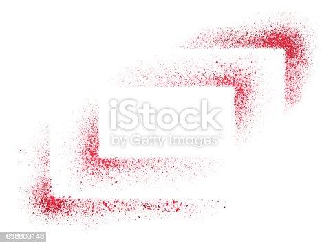 istock Red stencils corners 638800148