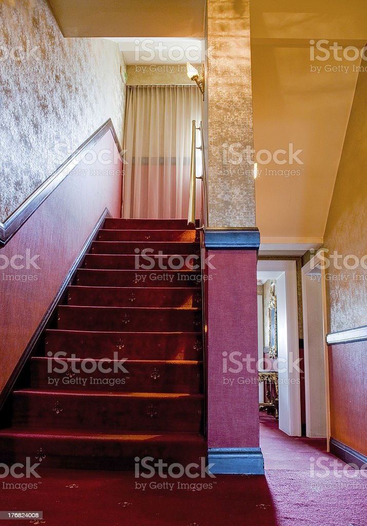 Red Steps stock photo
