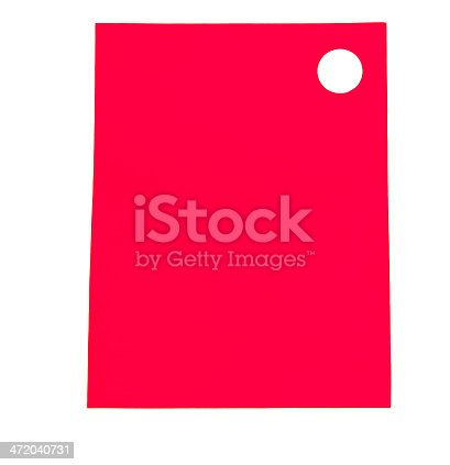 istock red sticker on a white background 472040731