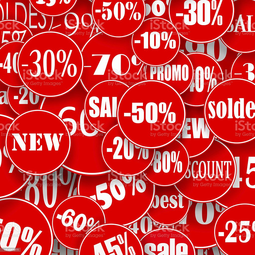 Red stickers royalty-free stock photo