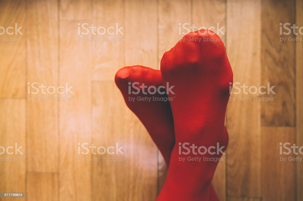 Red Stockings stock photo