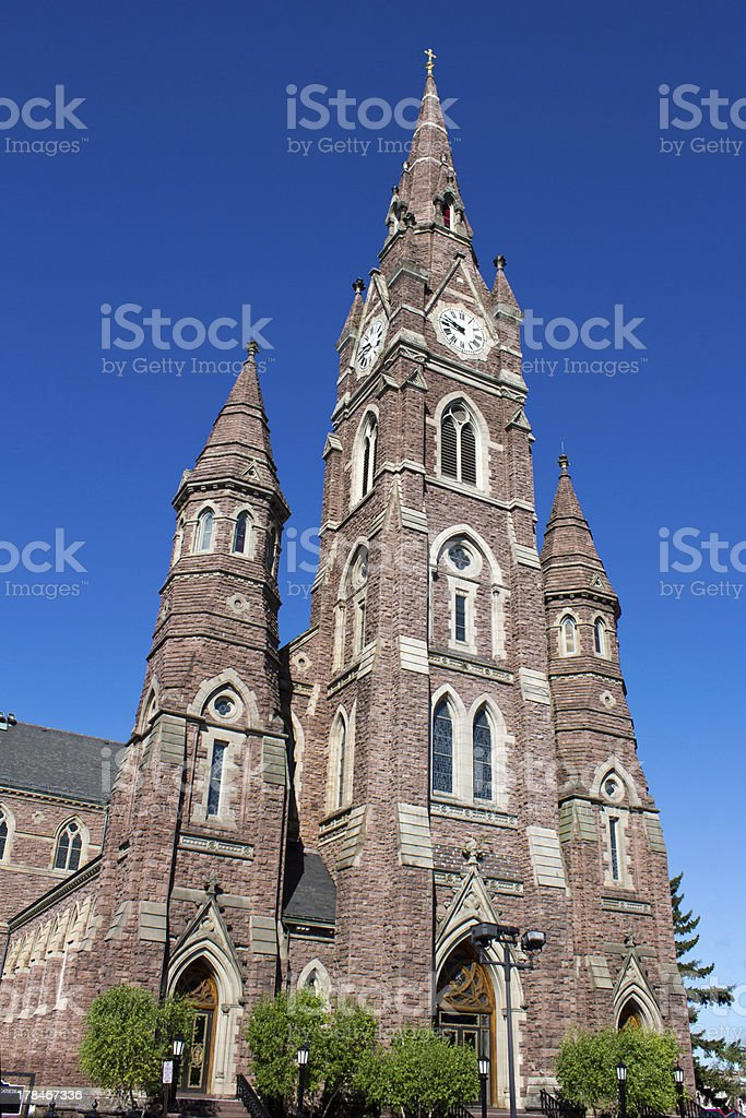 Red Stone Cathedral stock photo
