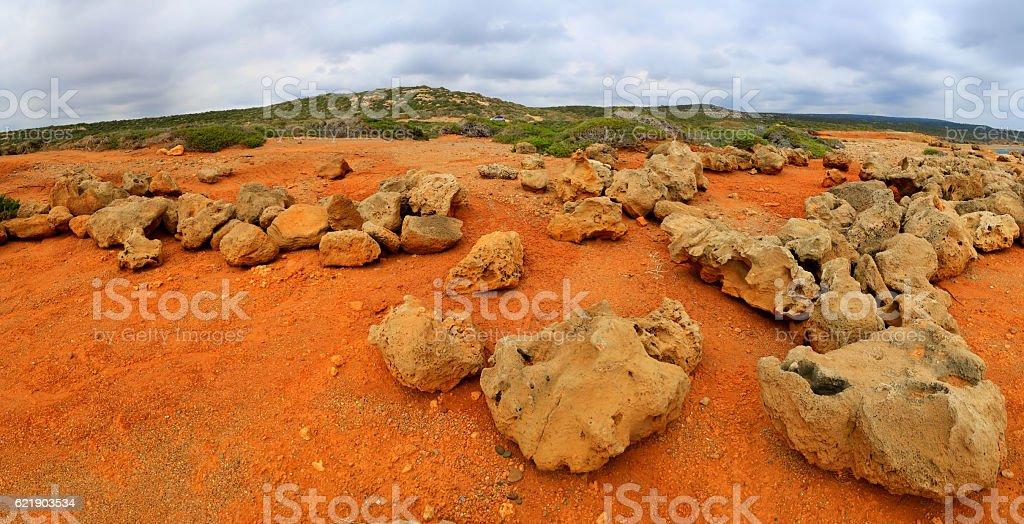 red stone desert stock photo