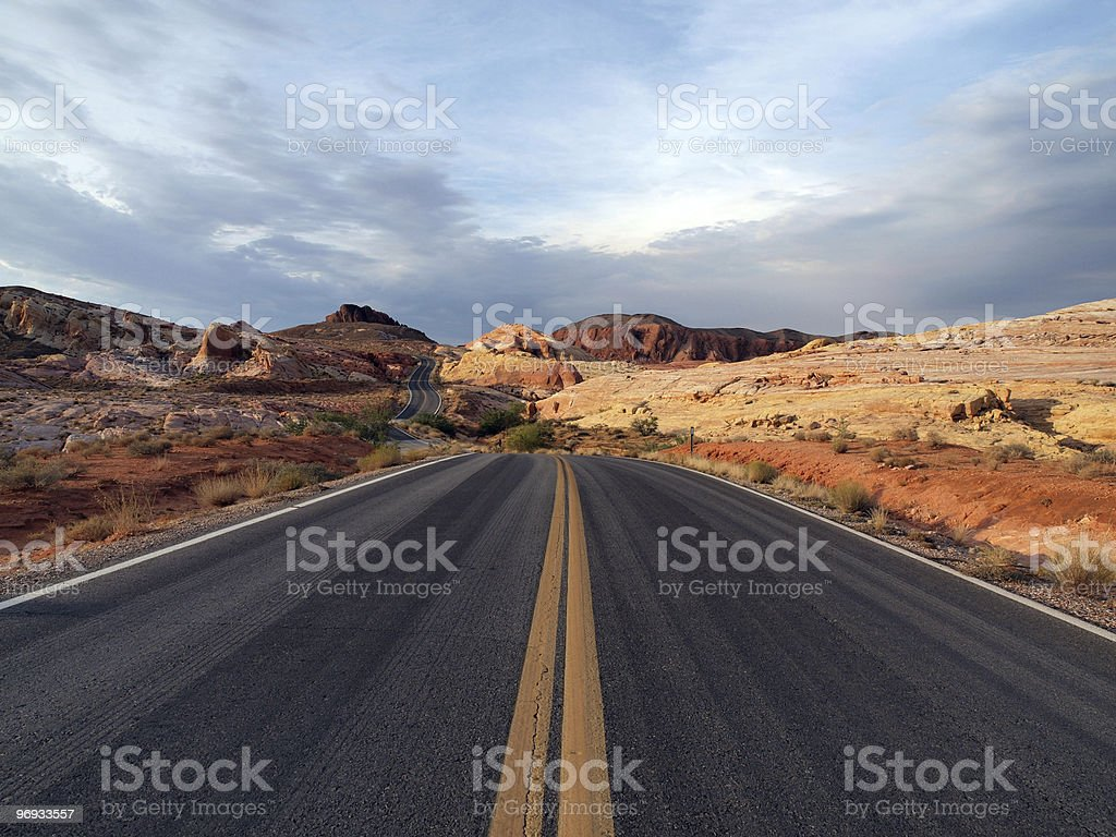 Red Stone Highway royalty-free stock photo