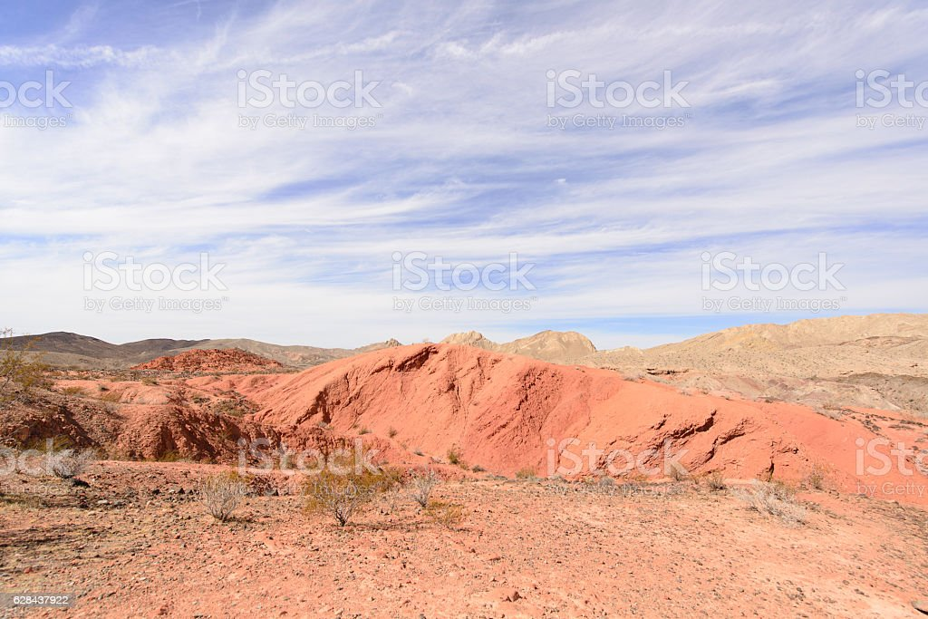 Red stone in National park stock photo