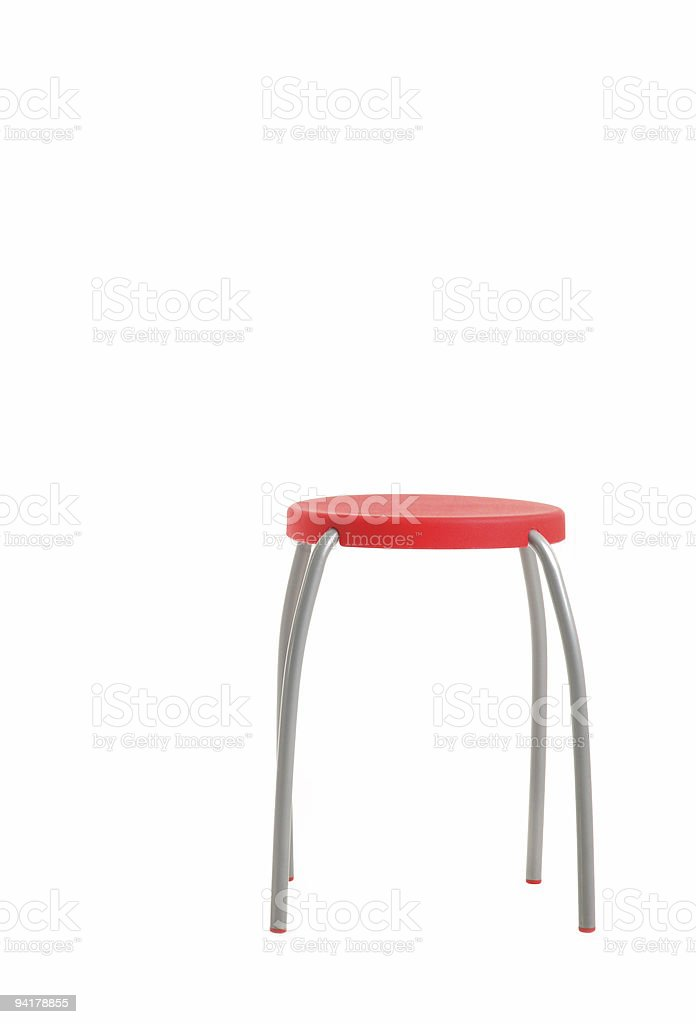 Red Stool royalty-free stock photo