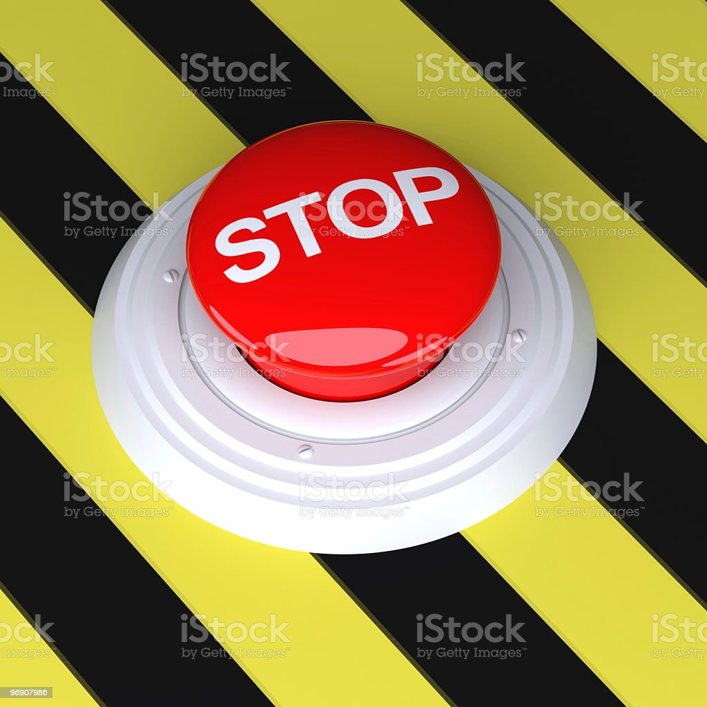 Red Stop Button royalty-free stock photo