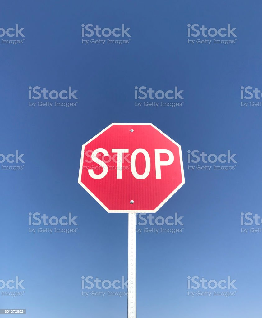 Red Stop Sign Vertical stock photo