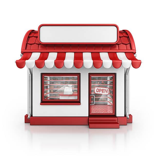 red loja - facade shop 3d - fotografias e filmes do acervo