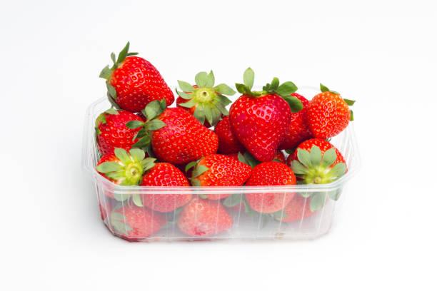 Red strawberries stock photo