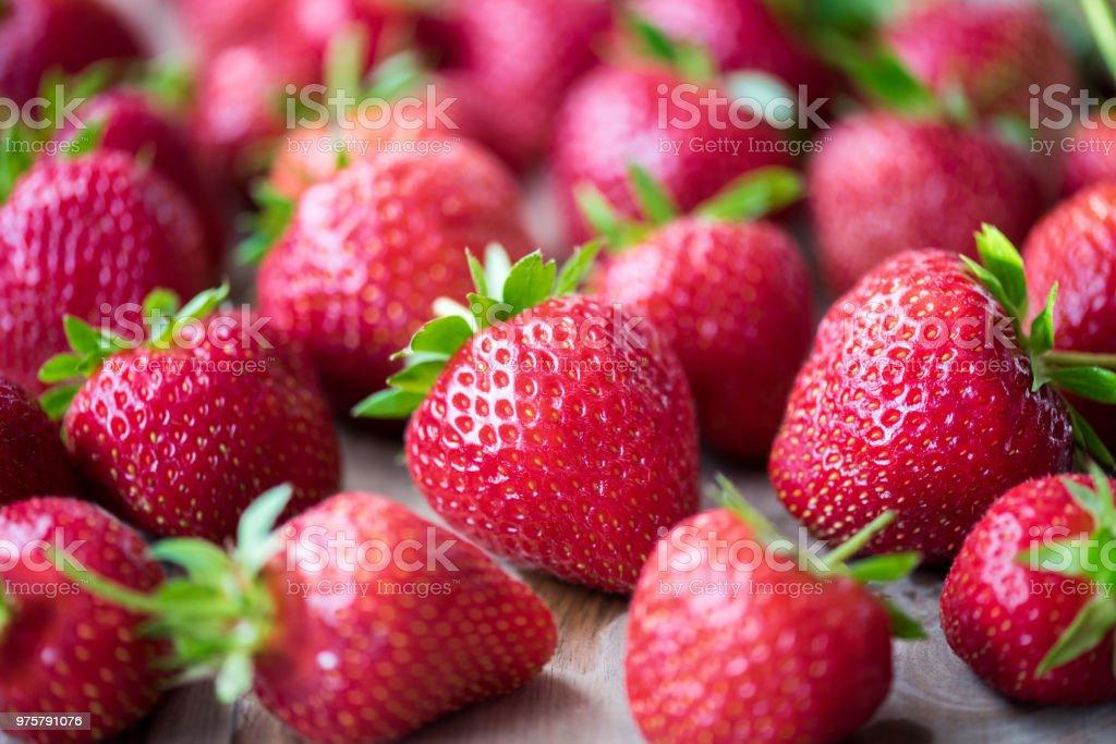 Rote Erdbeeren. - Lizenzfrei Abnehmen Stock-Foto