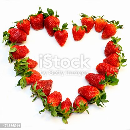 104822052istockphoto Red strawberry heart 471836544