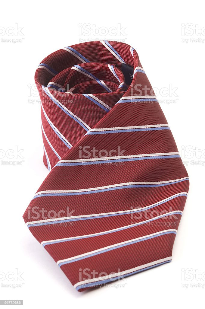 Red striped business tie royalty-free stock photo
