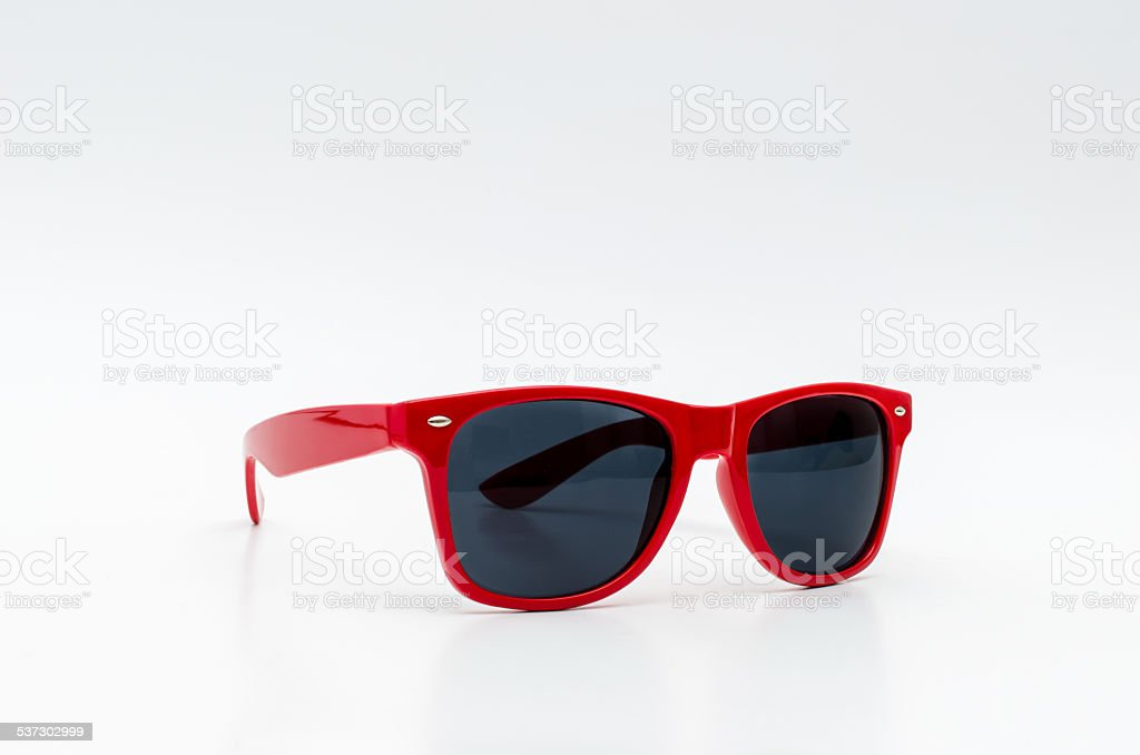 Red stylish sunglasses stock photo