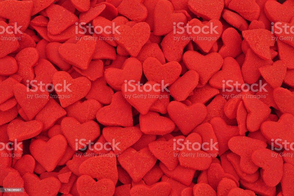 Red Sugar Hearts royalty-free stock photo