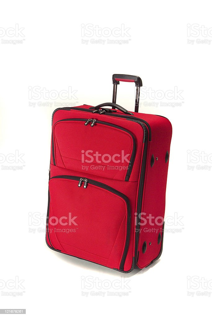 red suitcase royalty-free stock photo