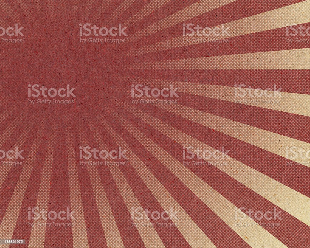 red sunburst halftone pattern on paper royalty-free stock photo