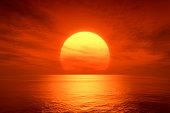 レッドの夕日