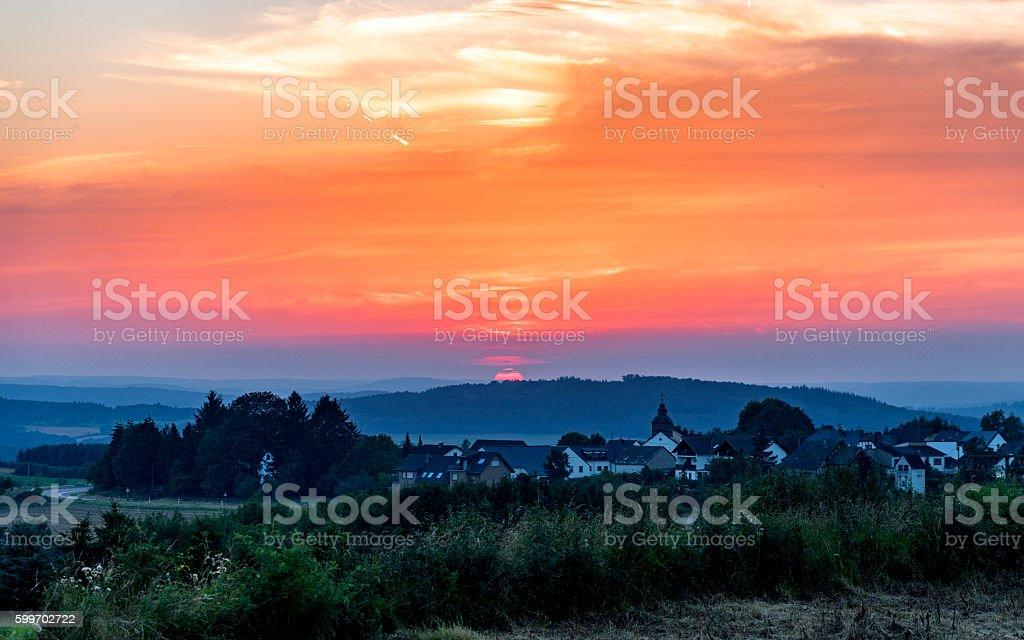 Red Sunset stok fotoğrafı